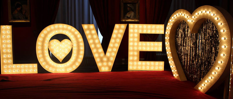 Love Letters Wedding Lights And Letter Hire In