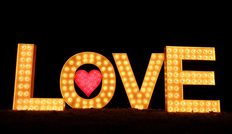 Love Light Hire Letters Initials Bo Hearts For
