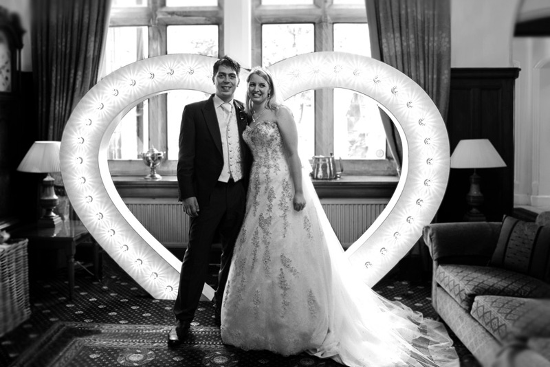 big light up heart for hire ideal for wedding lighting