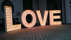 love lights and letters for hire