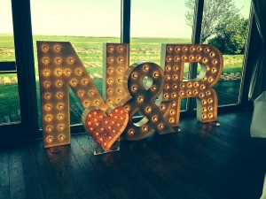 initials for wedding hire